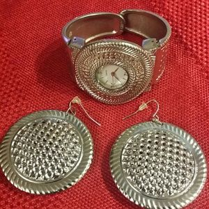 Watch and earing set